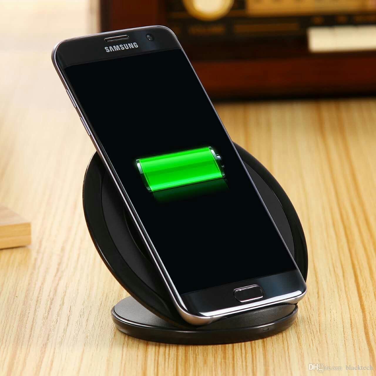 Qi Caricabatterie universale senza fili s7 titolare veloce bacino di carico del caricatore senza fili per il Samsung S8 S9 S10 più R2 R3 universale