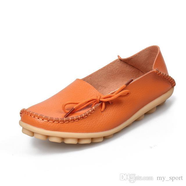 Темно-красный женщины натуральная кожа обувь мокасины мать мокасины мягкий досуг женский вождение два способа носить обувь