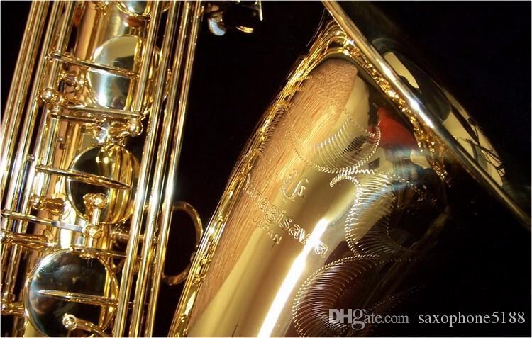 Качество бренда YANAGISAWA T-902 Bb Tune Saxophone Высокое Качество Латунь Золотой Лак Западная Игра Музыкальный Инструмент Саксофон с Чехлом