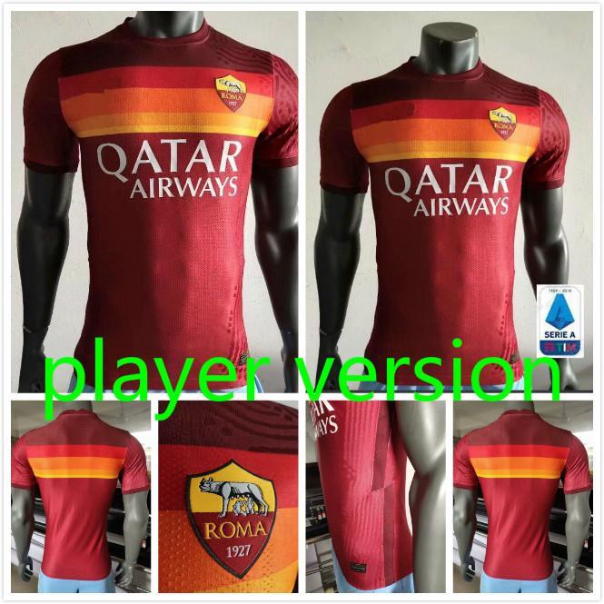 camicia TOTTI ROMA Player versione 21 20 DZEKO casa lontano da calcio ROMA DZEKO Sport DE ROSSI Jersey 2021 2020 El Shaarawy Nainggolan Calcio