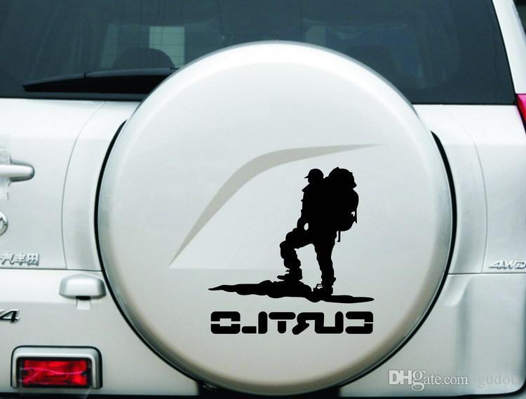 20 * etiqueta de vidro 20 centímetros alpinista caminhadas reflexivo vinil decalque laptop cabine carro