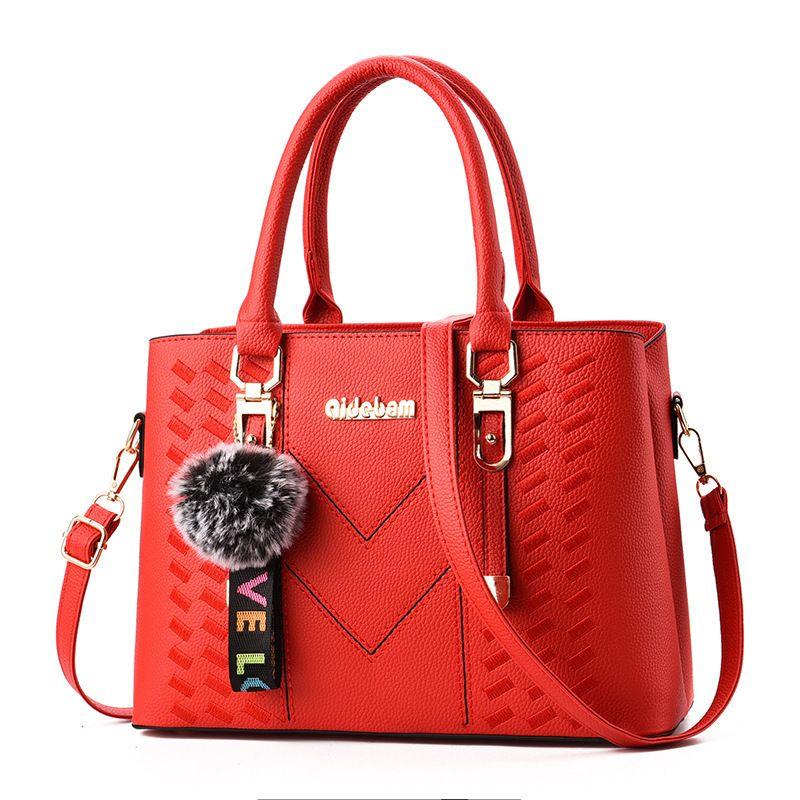 Lovely2019 Ma'am Woman Bag Will Capacity Cool Tide Slanting Single Shoulder Package Handbag