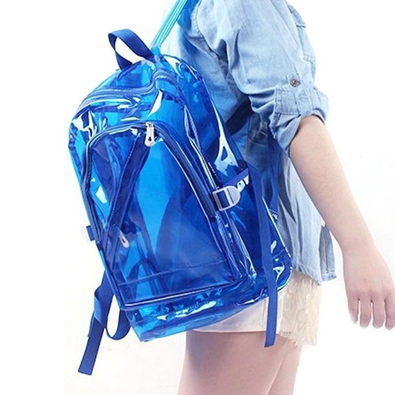Clear Backpack For Girls Small Mini PVC Transparent Backpacks Plastic Kids Teen