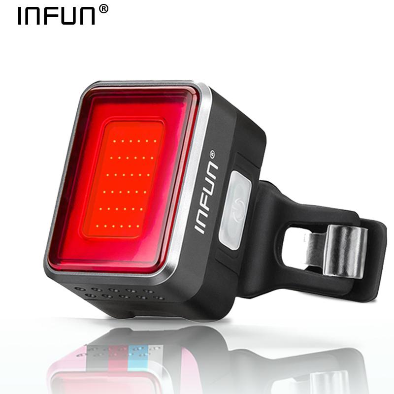 Infun F50 Bicycle Rear Light For Bike Automatic Brake Induction Taillight Mtb Cycling Charge Led Safety Running Lamp Accessories C19041301
