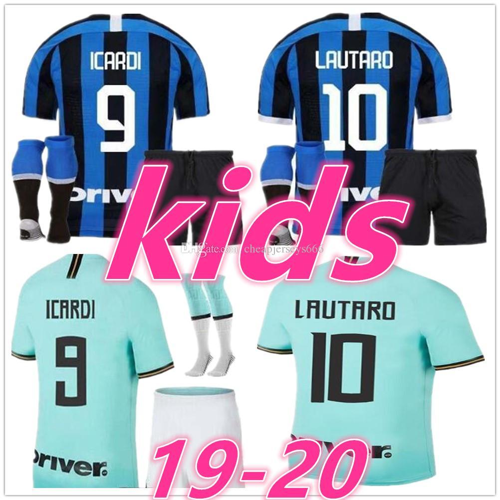 inter milan jersey inter milan kids football kits 20 21Inter Milan LAUTARO ICARDI kids designer clothes boys kids soccer jersyey football jerseys shirt