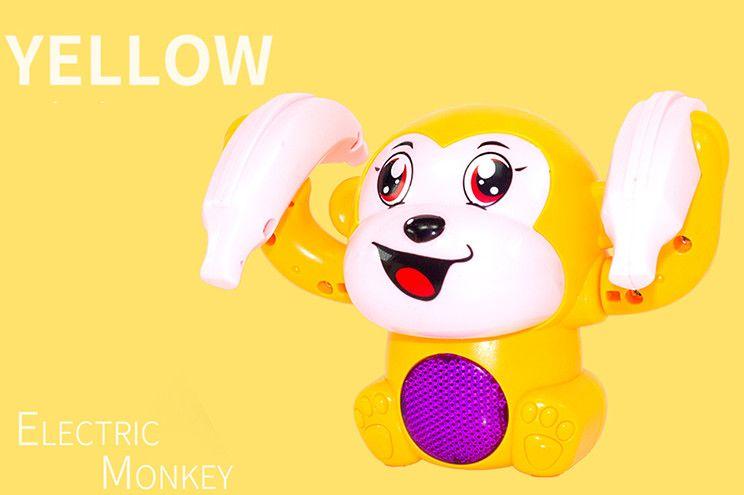 Les enfants de jouet électrique tumbling petit singe garçon musique légère bébé fille casse-tête 1-2-3 ans version vocale