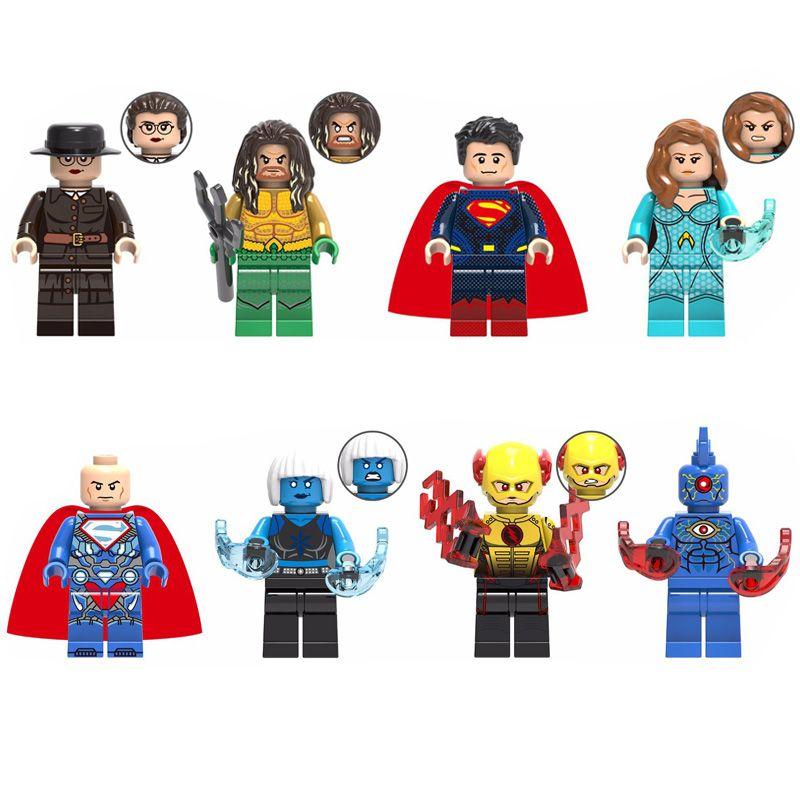 Avengers Super Hero Wonder Woman Aquaman Superman Mera Luthor Superman Killer Frost Reverse Frost Brother Eye Mini Toy Figure Building Block