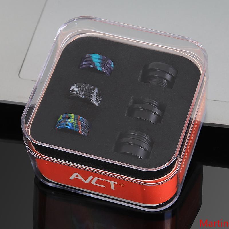 Authentique goutte à goutte AVCT Set Tip avec 510 810 goutte à goutte Conseils tout en un de conversion POM avec de la résine Interchangeable Connecteur Embouchure Vape