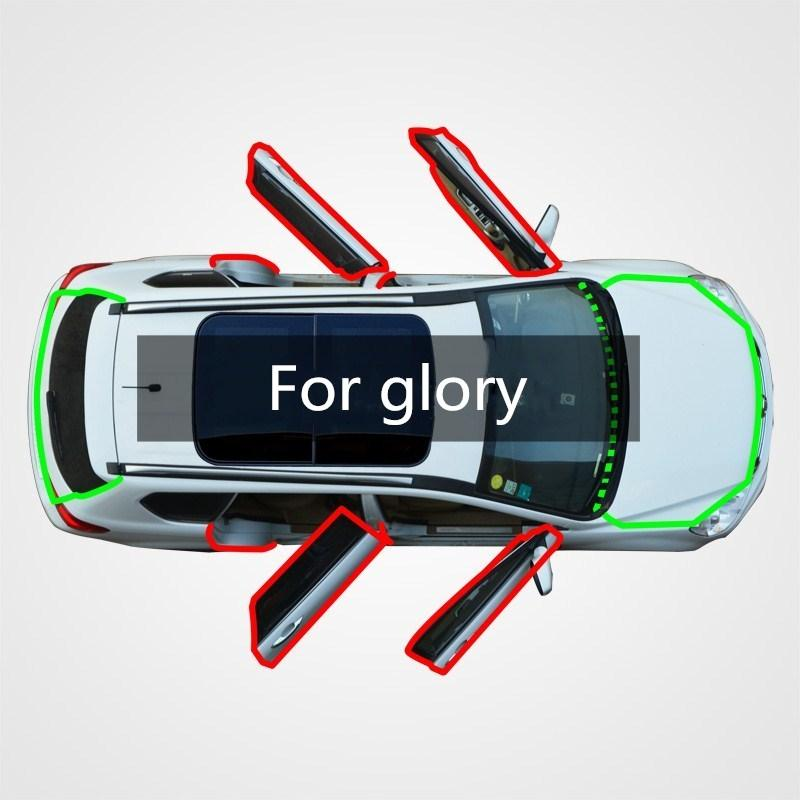 For the application of wuling glory car door side gap dust feng shui collision sound insulation retrofitted with modified rubber