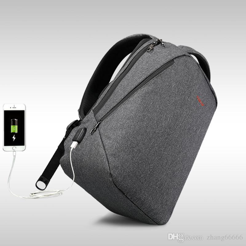"""Crazy2019 تصميم Tigernu العلامة التجارية الرجال على ظهره مكافحة سرقة USB المسؤول 14 """"17"""" حقيبة كمبيوتر محمول على ظهره حقيبة مدرسية ذكر المرأة حقيبة الظهر"""