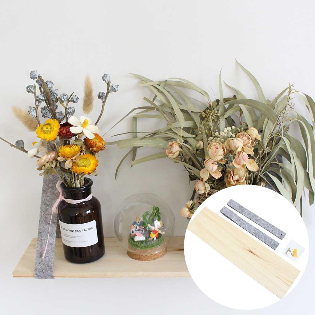 Semplice feltro strato di parete Color Bar singola legno Magazzinaggio decorazioni Holder da letto del contesto domestico della parete Hanging Decor