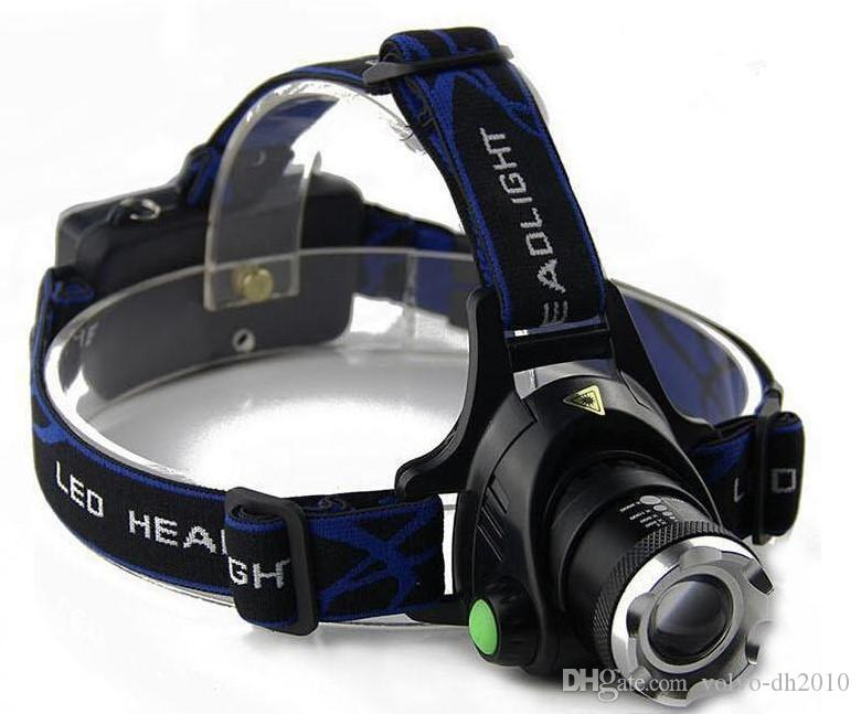 Outdoor Hiking zoomable CREE XML-T6 Headlight T6 headlamp LED Head Lamp Rechargeable led zoom bike head light +2x 18650 battery + AC charger