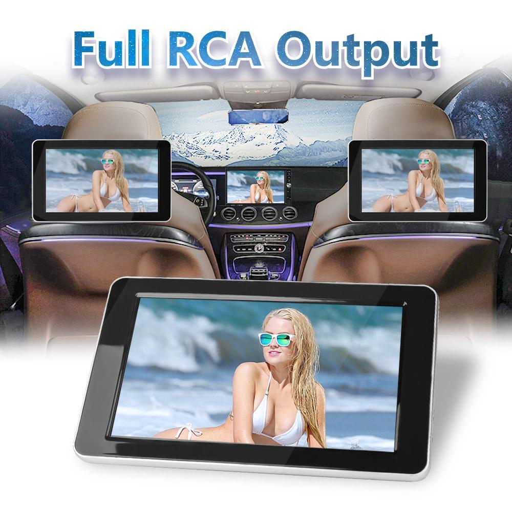 9 pouces TFT LCD couleur DVD Moniteurs 1024x600 Têtière entrée HD Radio AV Monitor pour lecteur audio de voiture DVD