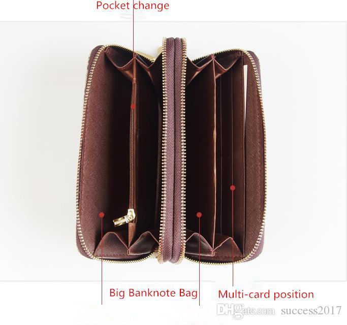 2019 nouvelle chaude gros 078 portefeuille classique hommes standard long sac à main sac d'argent poche double poche à glissière poche compartiment de la note