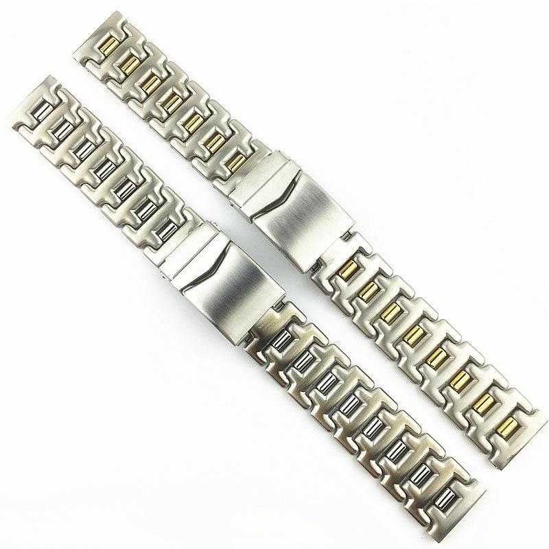 Montre en acier inoxydable solide avec 18mm Frosted 20 mm Perles coulissantes pour hommes et femmes