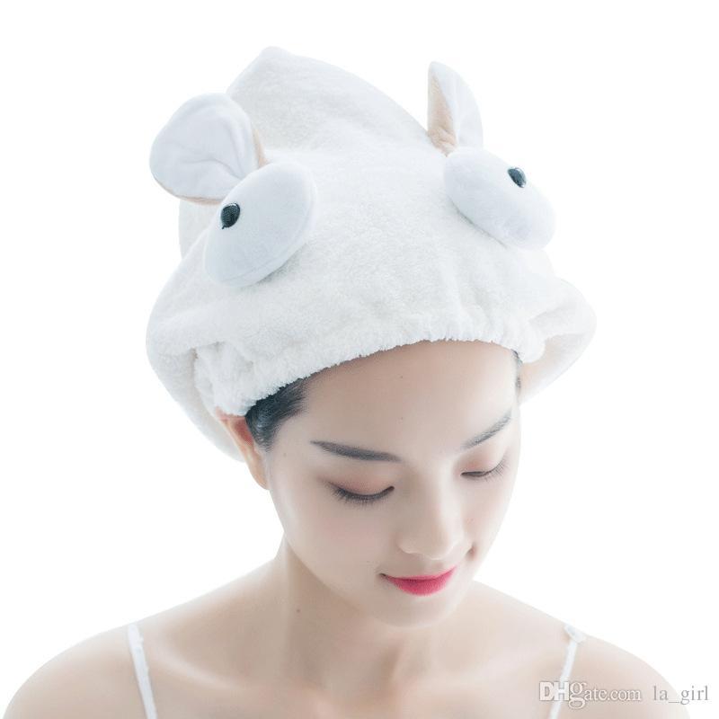 Girls Kids Quick Dry Towel Microfibre Hair Drying Wrap Turban Bath Head Hat CapQ