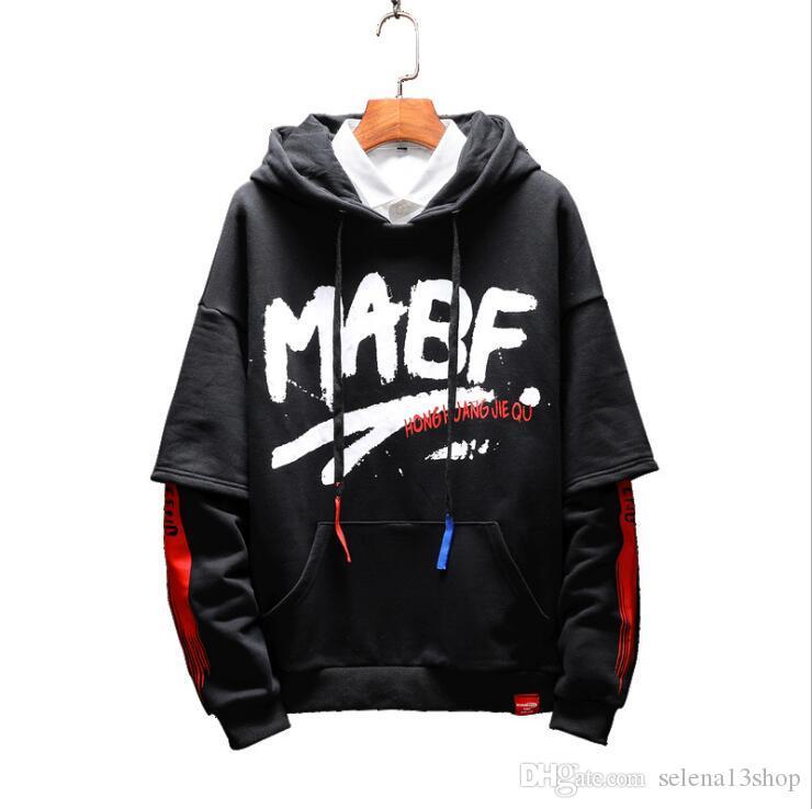 New Buchstabedrucken Pullover mit Kapuze mit Kapuze Hoodiejacke lose Designer Stickerei Sakko Baseballuniform Hip Hop Street M-5XL