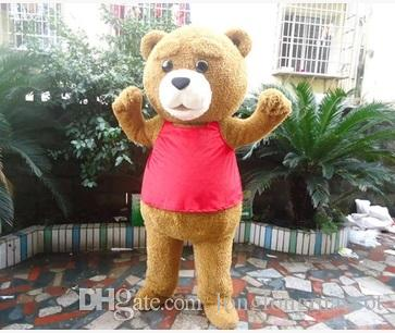 2018 Hot sale Ted Teddy Bear Movie Cartoon Character Event Mascot Costume