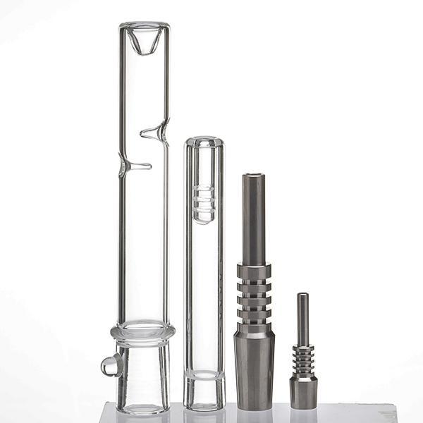 미니 Nector 수집기 키트 흡연 액세서리 10mm Gr2 티타늄 네일 유리 파이프 오일 조작 농축 Dab 짚 쿼츠 685