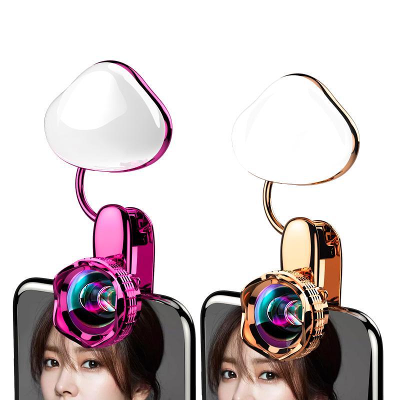 TruTra Selfie Portable Flash Led Phone Light Enhancing Mobile photo light brightening plus wide angle distortionless Camera lens