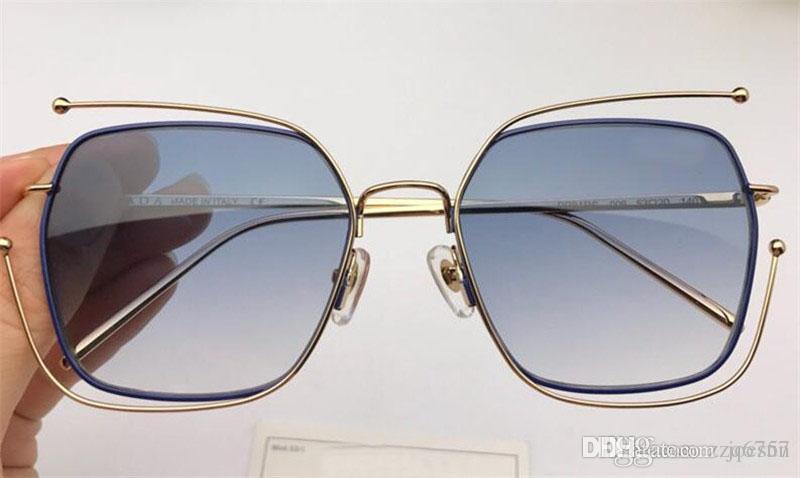 최신 인기 패션 디자이너 선글라스 사각형 프레임 최고 품질 81 안티 - UV400 렌즈 원래 상자