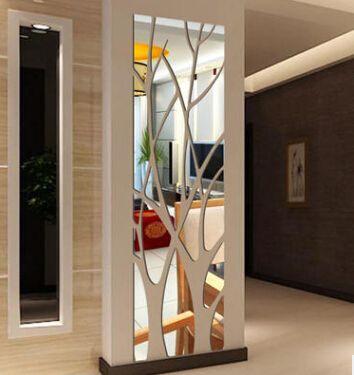 الاكريليك شجرة فرع مرآة الجدار ملصق للإزالة diy شجرة شكل 3d ملصق المنزل غرفة المعيشة جدار صائق