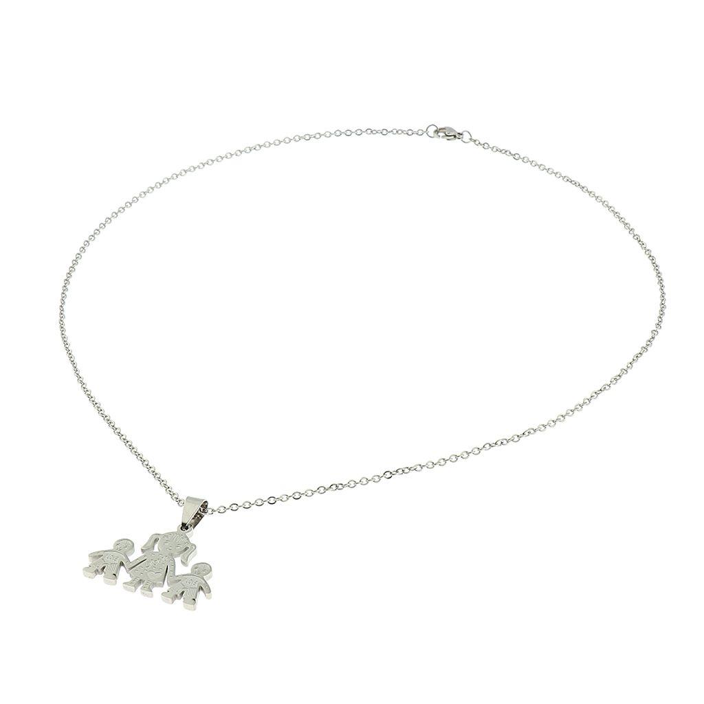 Shaper collar colgante estereoscópica miembro de la familia cuelga del cuello de la cadena de dibujos animados mamá cabritos cadena de la manera de la Mujer clavícula regalo de los niños