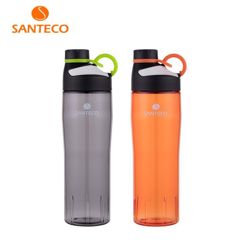 Santeco Oural Series Leichte Wasserflasche Bpa-freie Tritan-Sportflasche mit O-Ring-Griff 740 ml T8190627