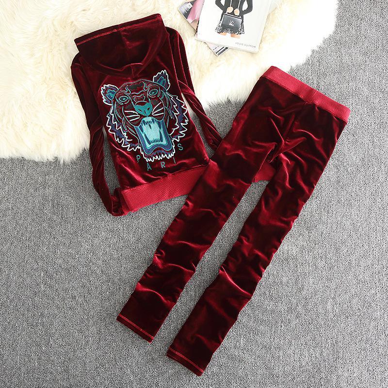 Pantalones casuales de tubo recto de felpa de dos piezas para mujer de otoño de manga larga Camisetas regulares de longitud completa + Pantalones largos de pierna recta Talla S-XL