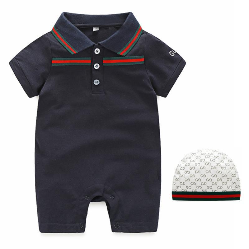 Neue Mode Neugeborene Baby Junge Mädchen Strampler Hut Lätzchen 3 Sets Unisex Baumwolle Neugeborenen Kleidung Baby Jungen Kleidung