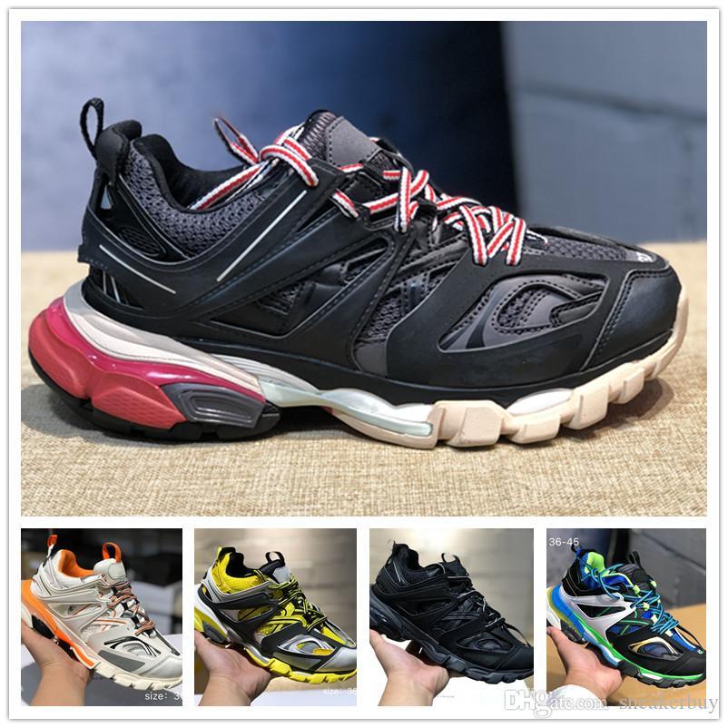 2020 Release 3.0 tess Parigi uomini traccia gomma Maille nero Per le donne Triple S Clunky scarpa da tennis dei pattini casuali Il modo caldo di scarpe