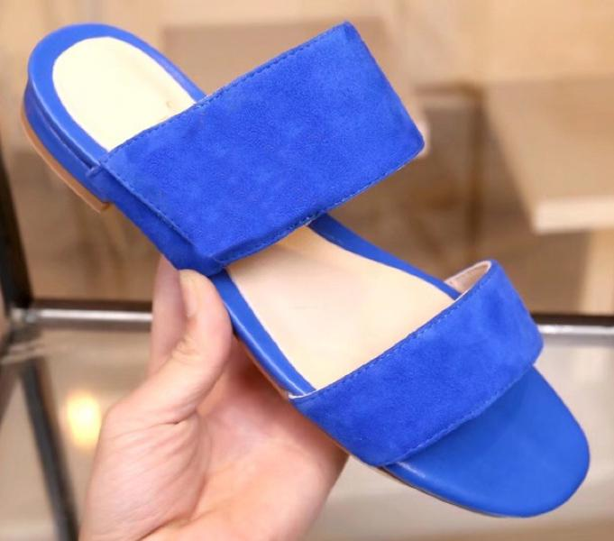 Venta caliente-las más nuevas mujeres zapatillas de cuero genuino mujer sandalias planas zapatos mujer chaussure femme sapato feminino sandalias HORIZON serise