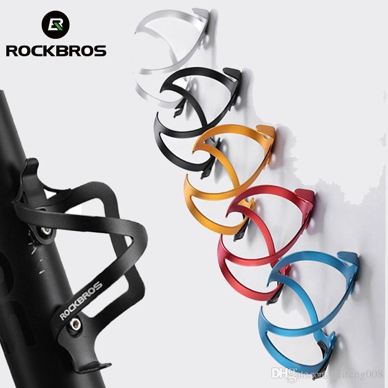 RockBros Bike Water Bottle Cage Aluminium Alloy Bicycle Bottle Holder Black