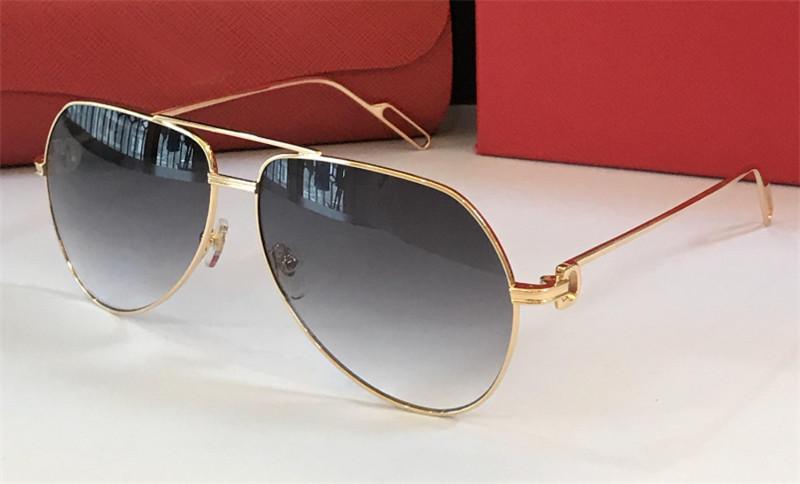 Style 400 0110 top mode klassische sonnenbrille uv rahmen verkauf freizeit neue piloten qualität metall einfache schutzbrille mit case pxqje
