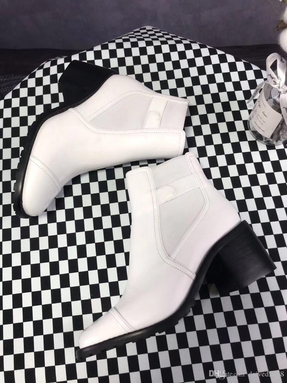 Zapatos romanos de estilo europeo clásico, zapatos de mujer, botas Martin, botas de moto, botas sexy, decoración de letras de astilla, botas de estilo de costura