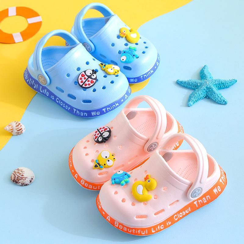 Children Sandals Boys Girls Cute Korean-style Sandals Toddler Baby Beach Shoe Summer Indoor Slippers for Kids Light EVA