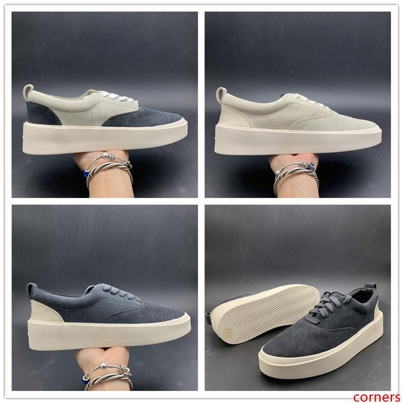 Actualización de Fear Of God x zapatos casuales para hombre de la temporada 5 de ante Zapatos que andan en monopatín de Lujo Italia Slip-On FOG Fashion Designer Shoes