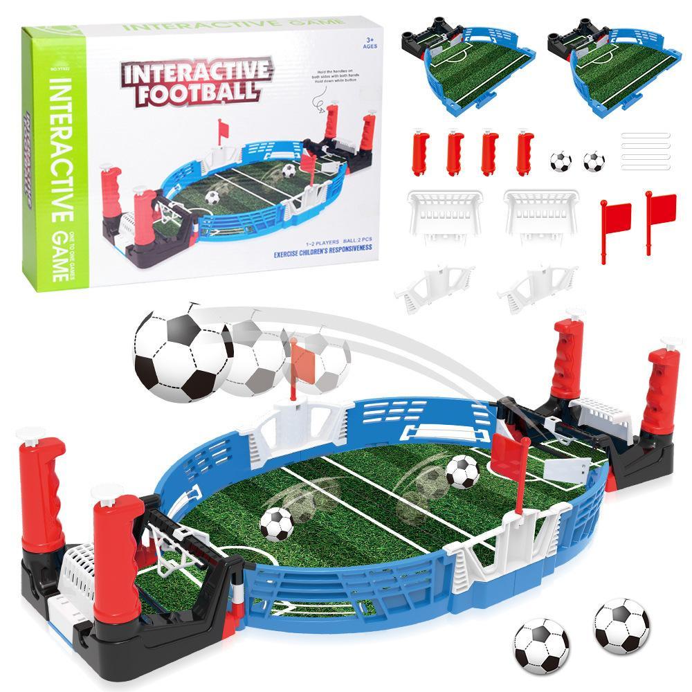 Детская настольная футбольная настольная игра с мячами игрушка для мальчиков головоломка двойной бой Интерактивный мини футбол спортивная игрушка Party Game T200413