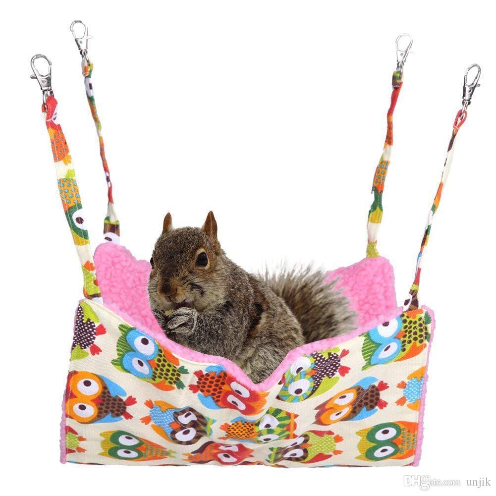 All Seasons Pet Cat Hängematten-Katzen-Betten Einseitig bedruckte, körnige Vlies-Hängematte, die am Tierkäfig aufgehängt werden kann