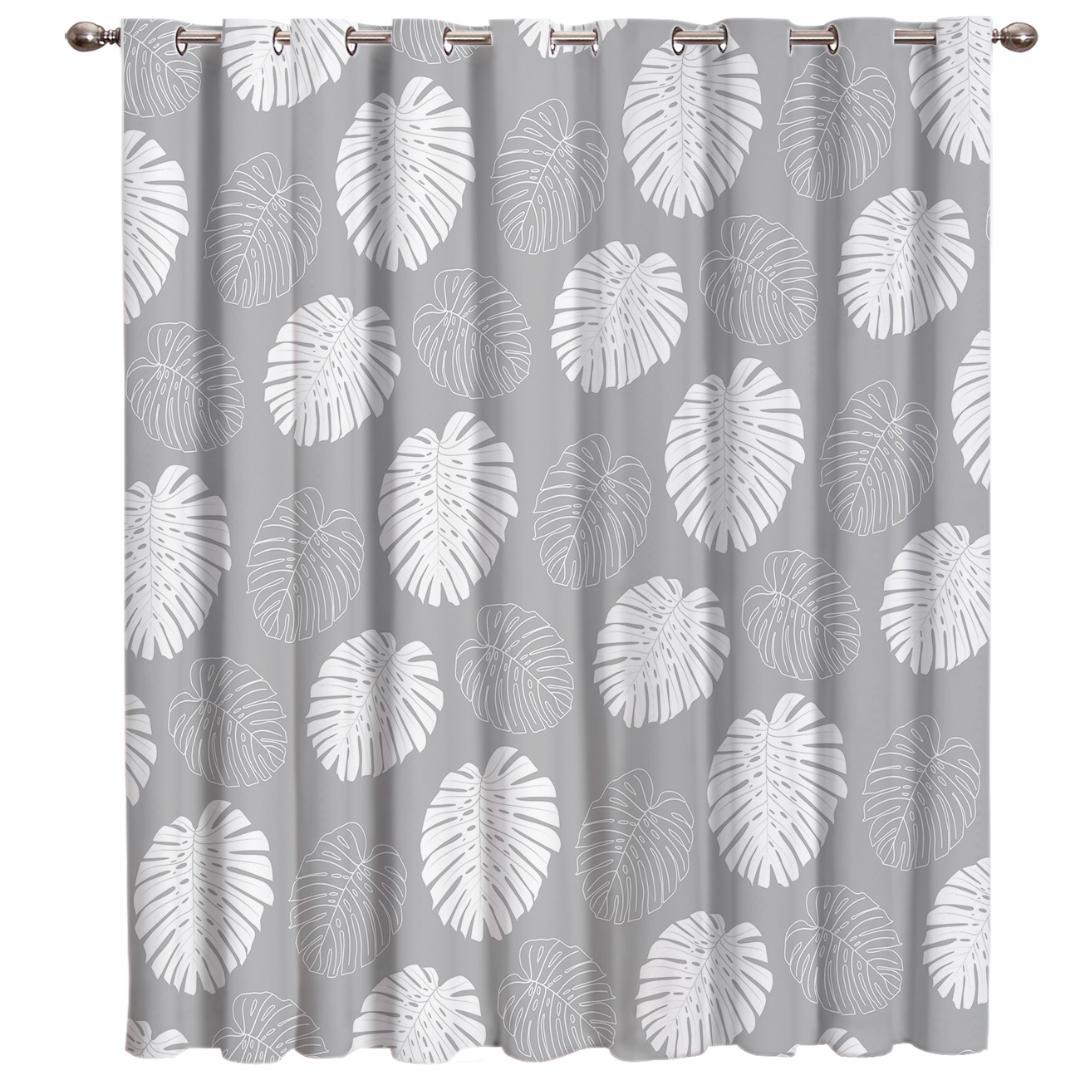2019 Tropical Plant Bamboo Room Curtains Large Window Living Room Bathroom Blackout Fabric Drapes Kids Window Treatment Valances Wind From Greenliv