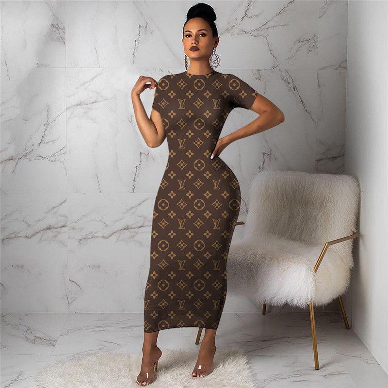 3Y298 امرأة تنورة شتوية واحدة قطعة ثوب طويل كم مصمم ملابس ماكسي الفساتين عالية الجودة