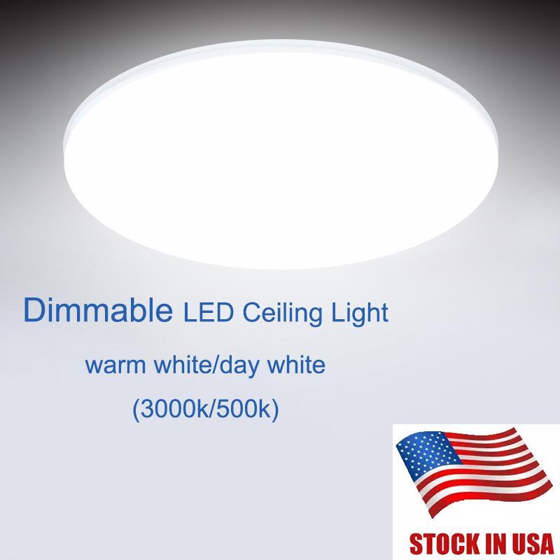 ABD LED Tavan Stok Banyo Salon Yuvarlak 3000K Işık Koruma Düzeyi IP44 18W Led Işık Fikstür Tavan Lights Lights