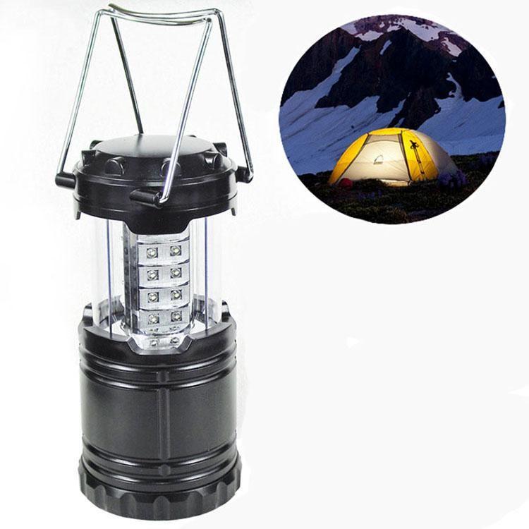 High Power Ultra Bright 30 LED Luz Camping dobrável Camping Lanterna Para Caminhadas Camping