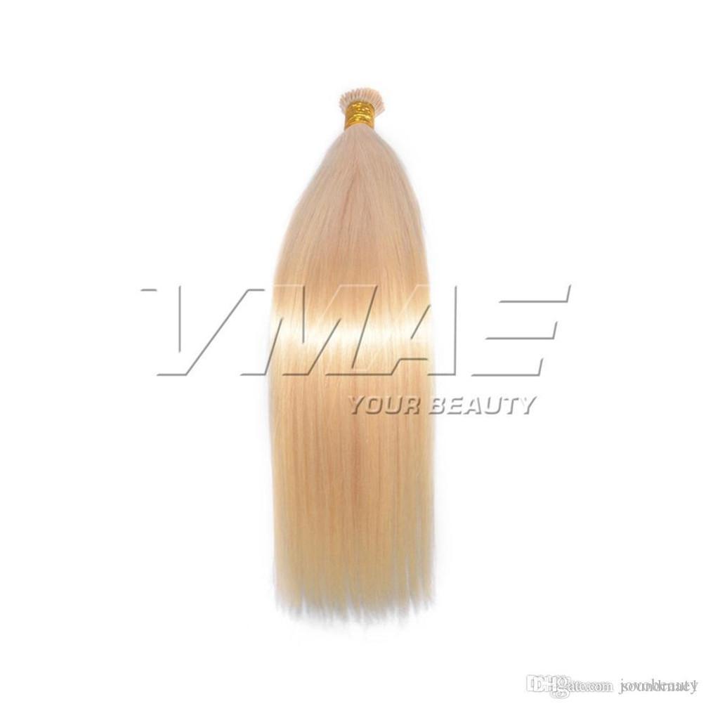VM VMAE alta calidad 1g / 100g s pre consolidadas Queratina Cápsula brasileño de la Virgen del palillo con punta recta que las extensiones de cabello humano
