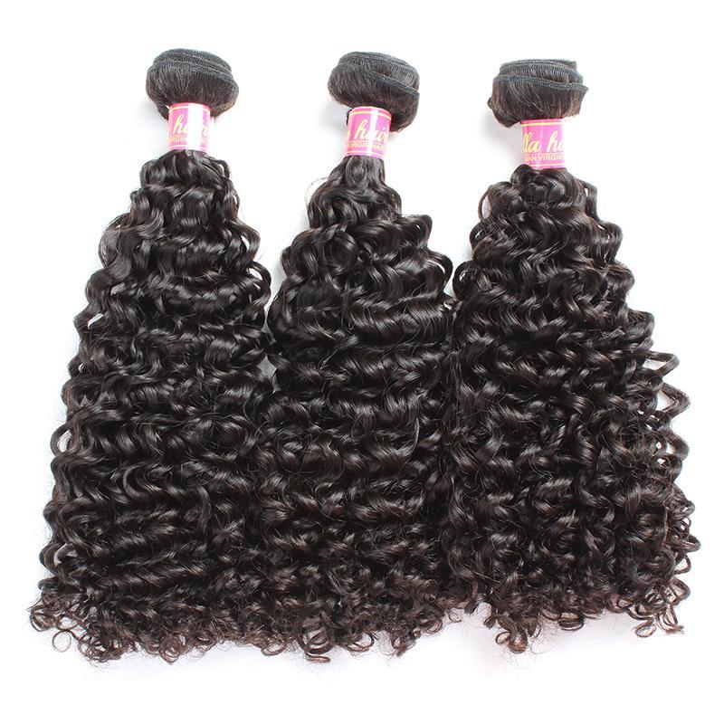 Bella Hair® Grade 8-30inch 100% non transformé Indian Vierge Cheveux Hair Weave Thanfe Couleur Naturelle Extension Curly 2 Bundles