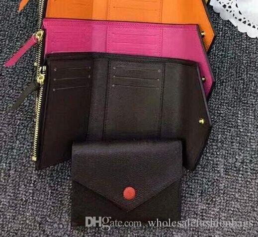 Hotsale europee e americane qualità superiore di marca delle donne nuove genuina VICTORINE pelle breve borsa del portafoglio piccola borsa con la scatola