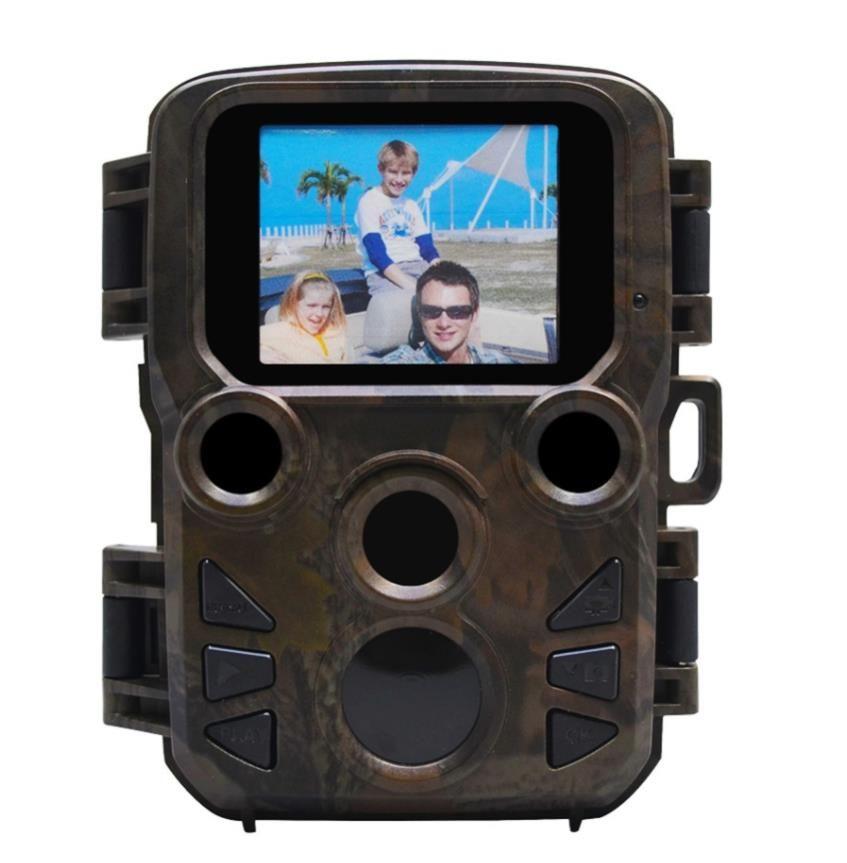 PIR 센서와 H501 12MP 1080P 미니 트레일 사진 트랩 사냥 카메라 사냥 게임 카메라 야외 야생 동물 정찰 카메라