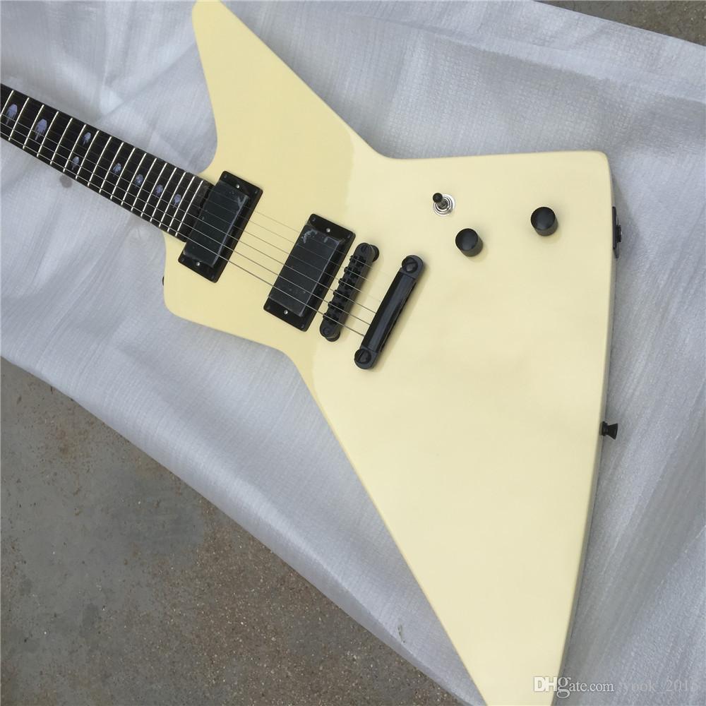 무료 배송 마호가니 바디 크림 익스플로러 일렉트릭 기타 Guitarra all colour available
