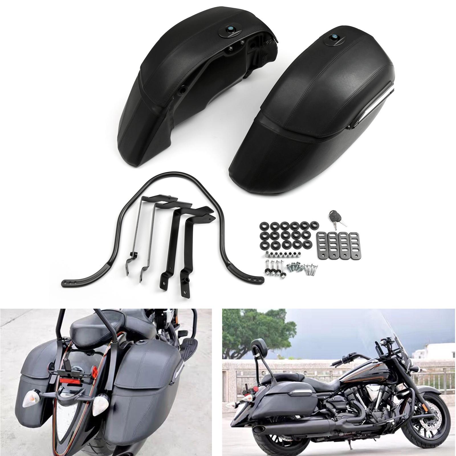 야마하 미국 오토바이 액세서리 부품 Areyourshop 오토바이 범용 오토바이 크루즈 클래식 사이드 가방 하드 잠금 안장 가방