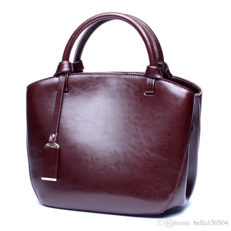 best quality women bags MICHA KEN lady Genuine leather handbags famous Designer brand bags purse shoulder tote Bag female 6821
